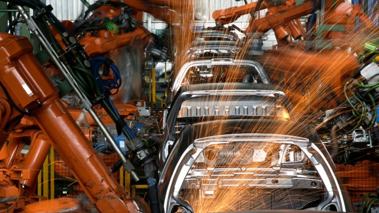 cars on an robotic assembly line