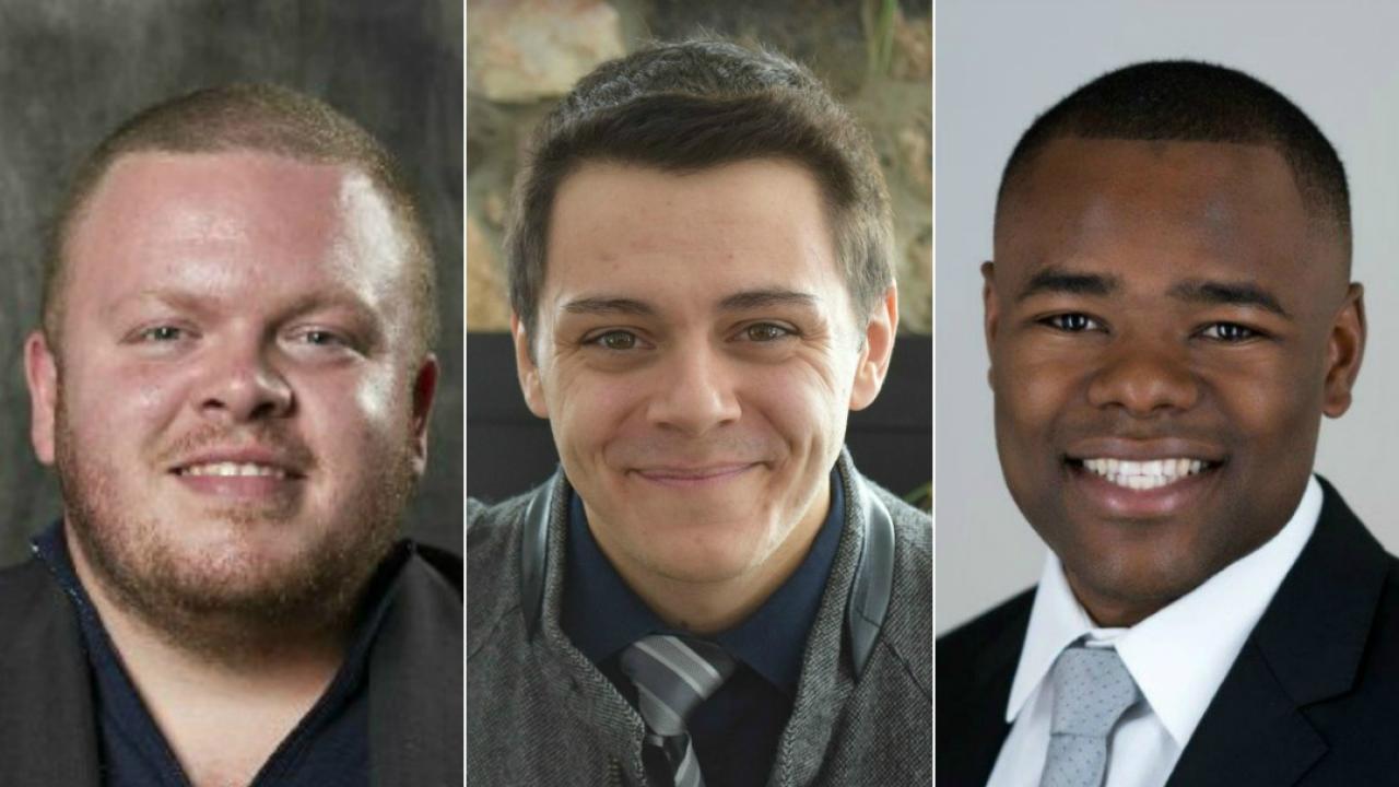 Brockville city councillor, Leigh Bursey; North Bay deputy mayor, Sheldon Forgette and London city councillor, Mo Mohamed Salih.