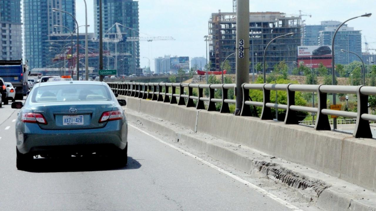 a stretch of highway in Toronto