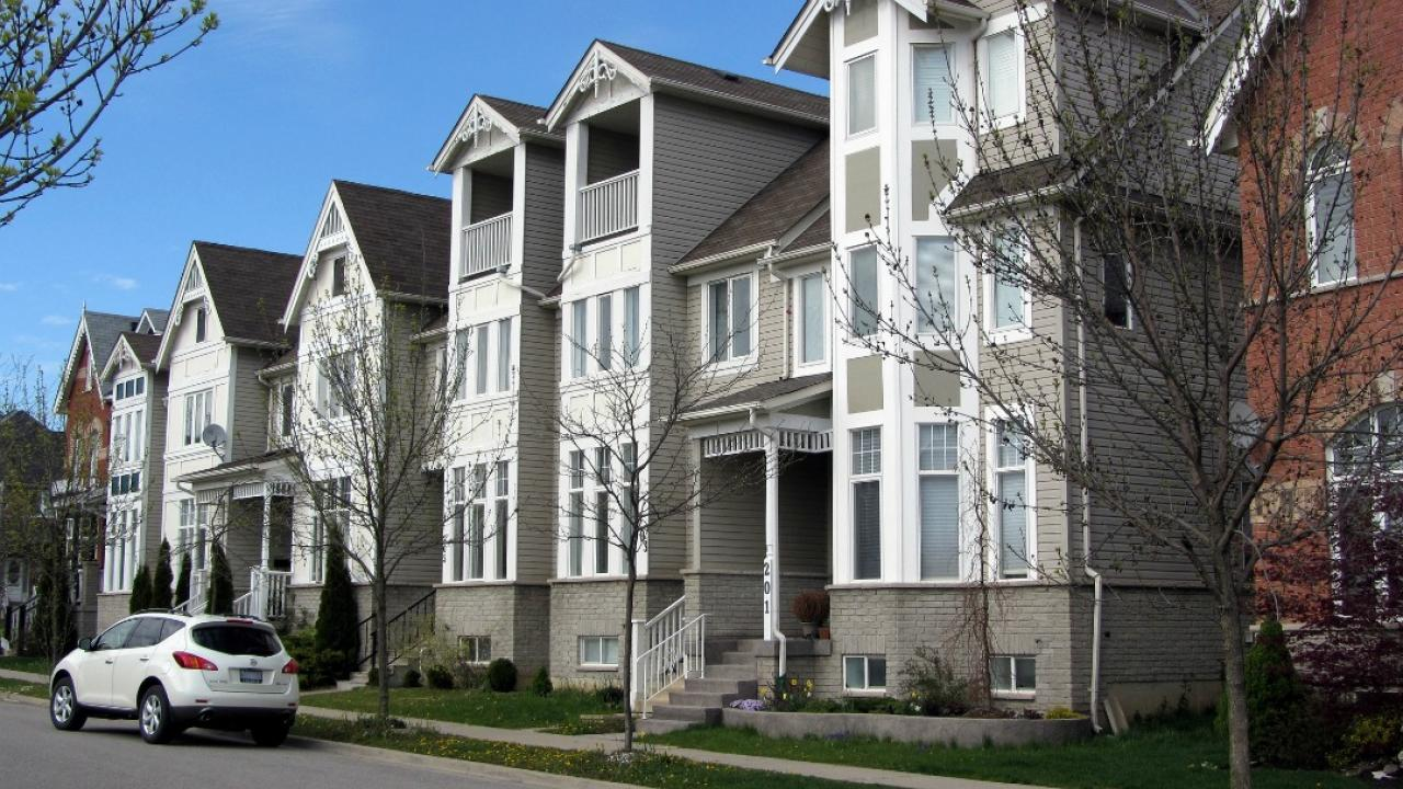 a row of townhouses