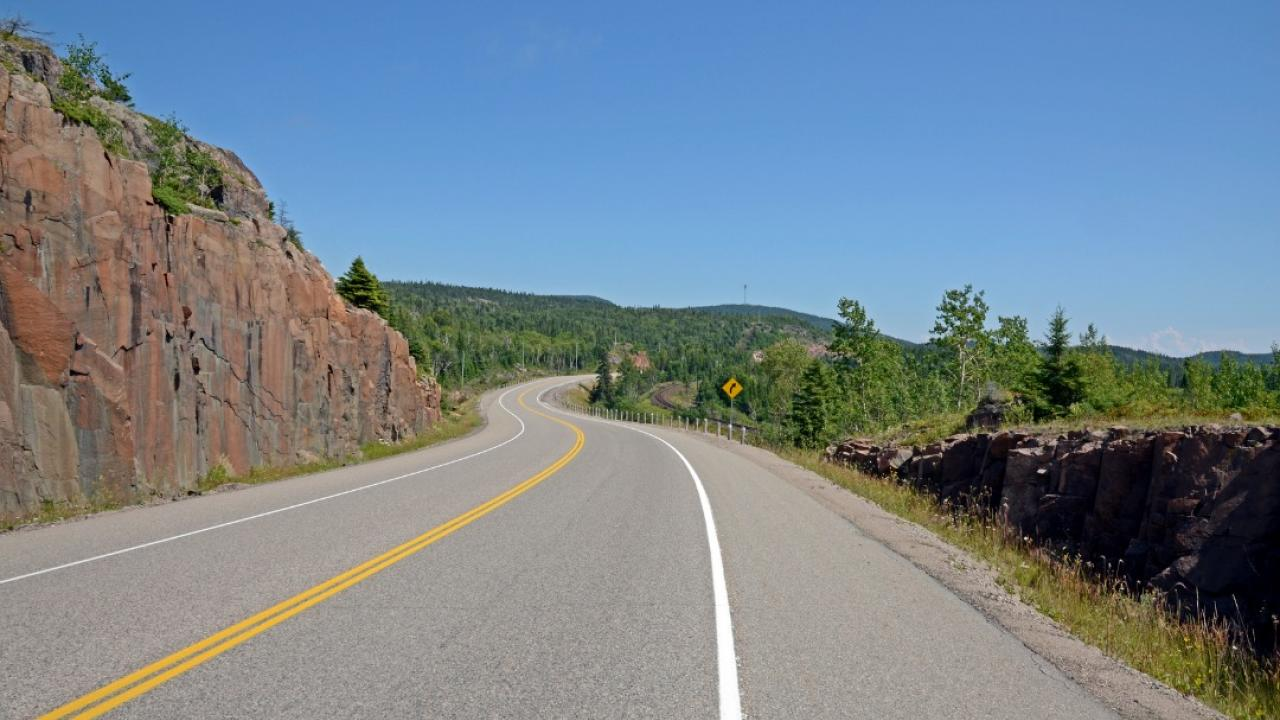 a stretch of the Trans-Canada Highway in northern Ontario