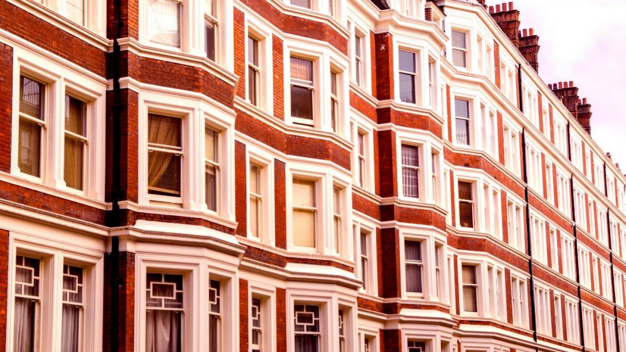 typical London, England row house