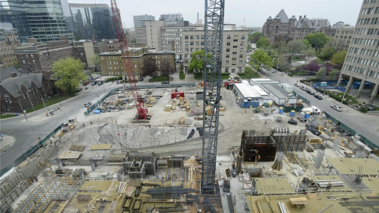 construction site for women's college hospital
