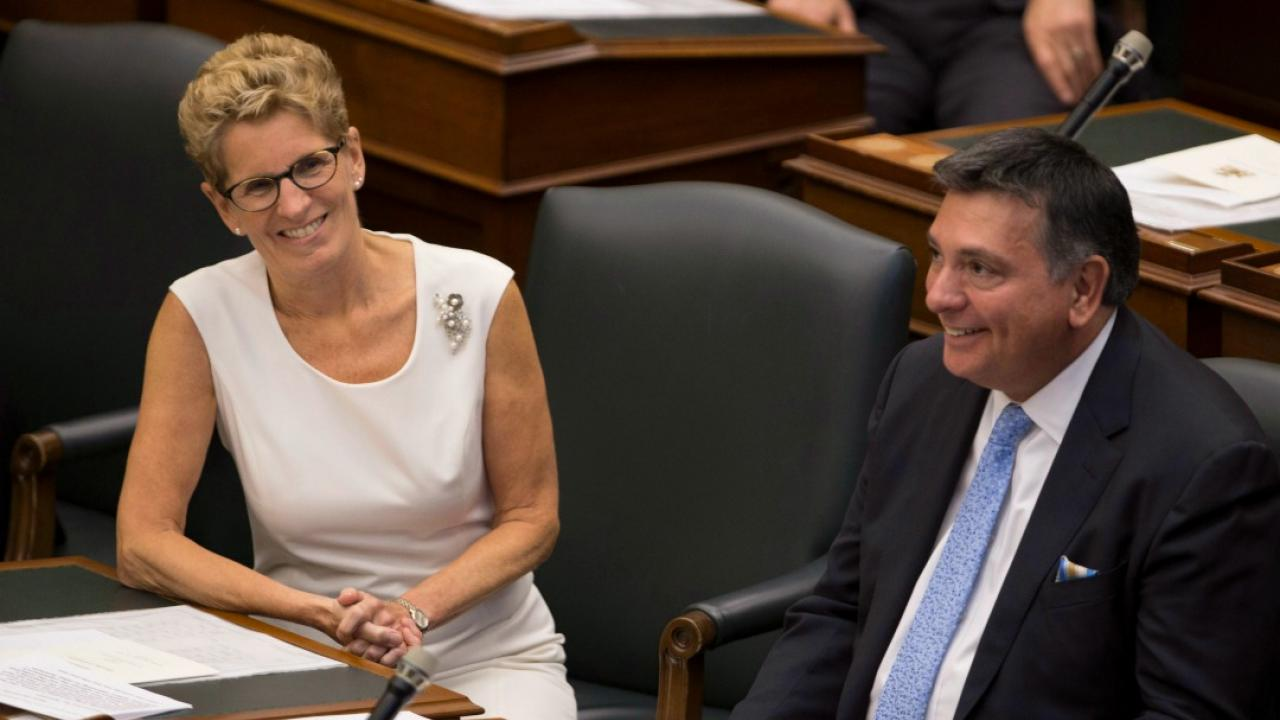 Kathleen Wynne and Charles Sousa.