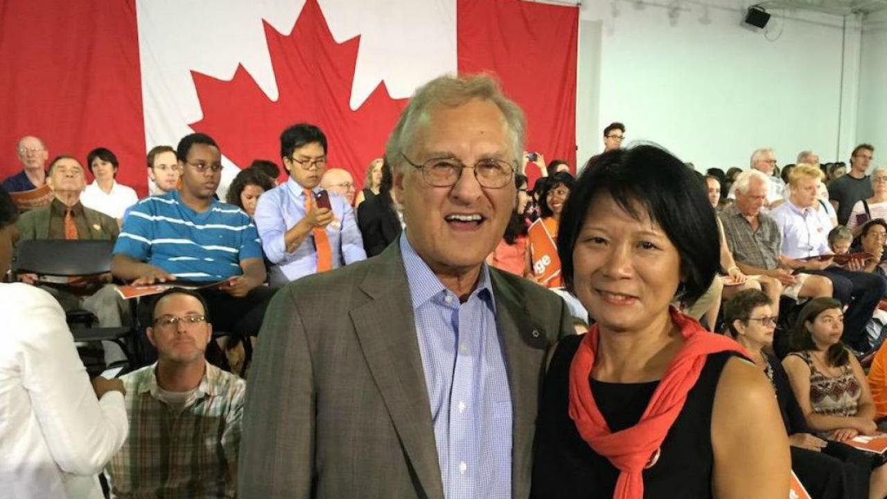 Stephen Lewis and Olivia Chow