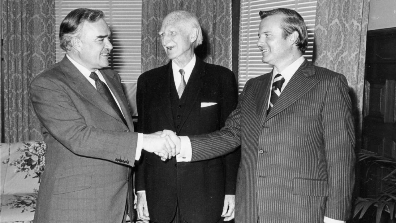 John Robarts, Ross MacDonald and Bill Davis