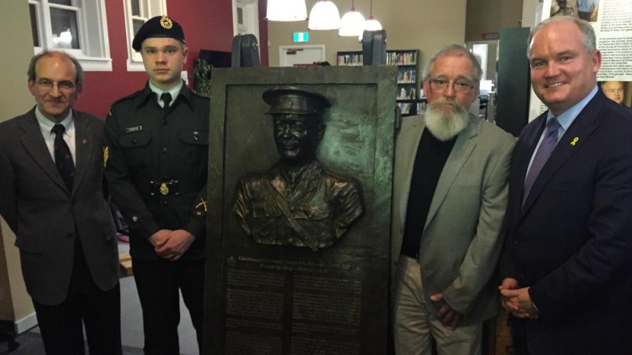 Unveiling of Sam Sharpe plaque in Uxbridge, Ont.
