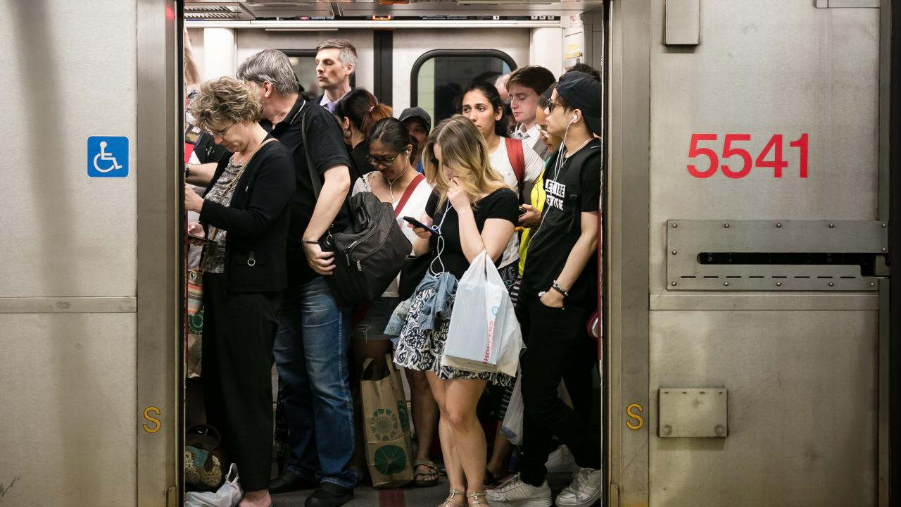 People on a subway