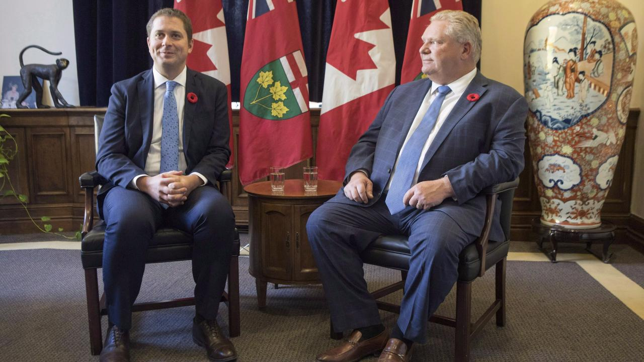 Andrew Scheer and Doug Ford