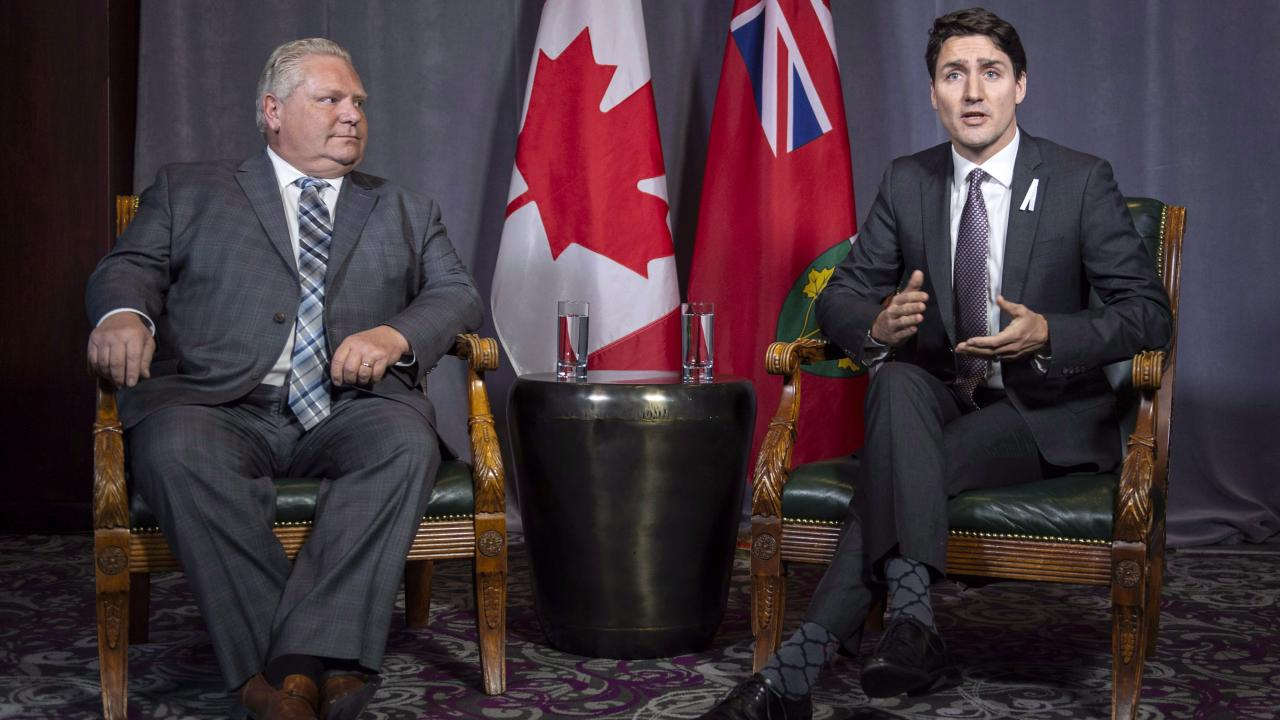 Doug Ford and Justin Trudeau