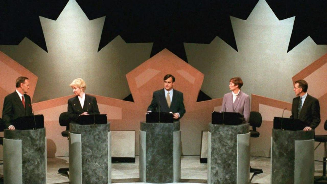 Leaders' debate in the 1993 Canadian election campaign