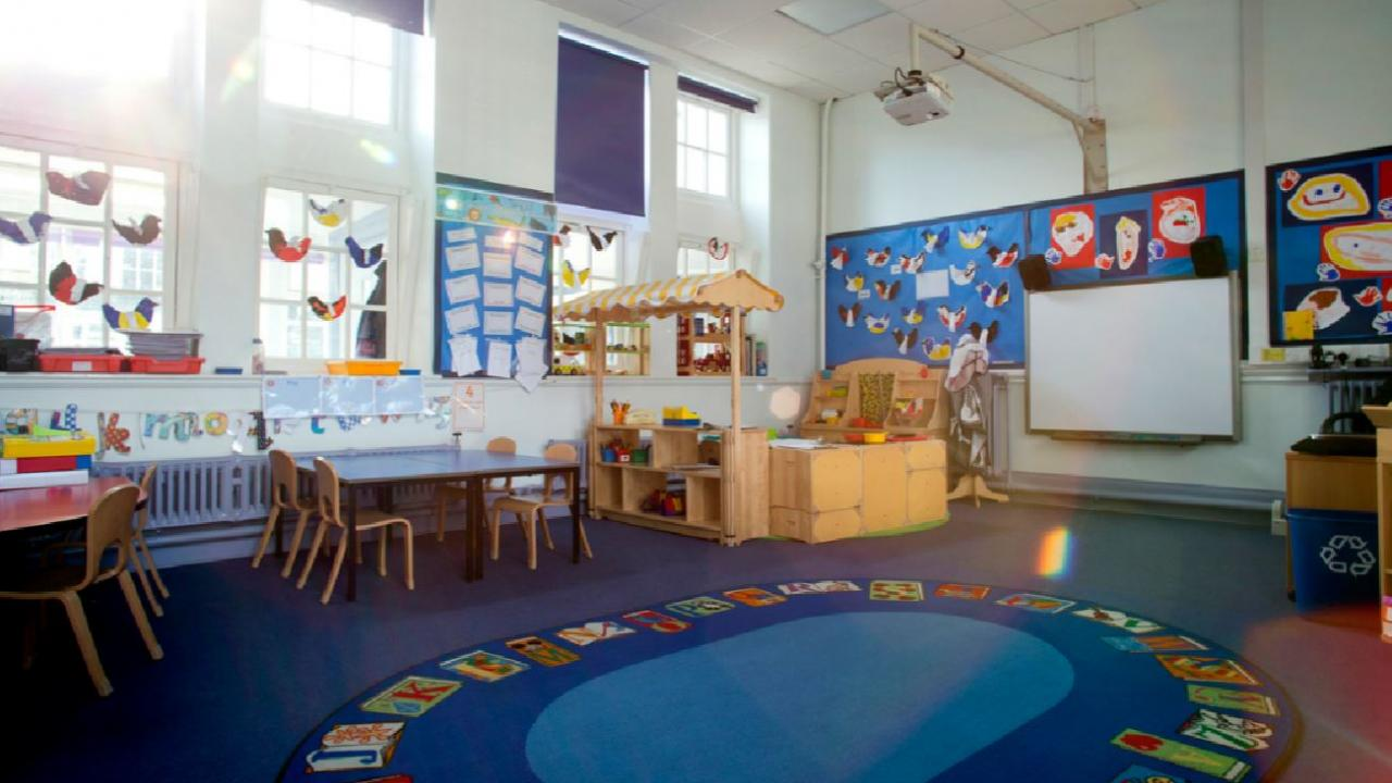 a day care classroom