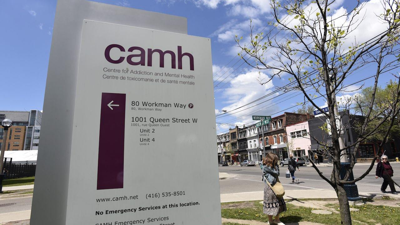 signage in front of CAMH