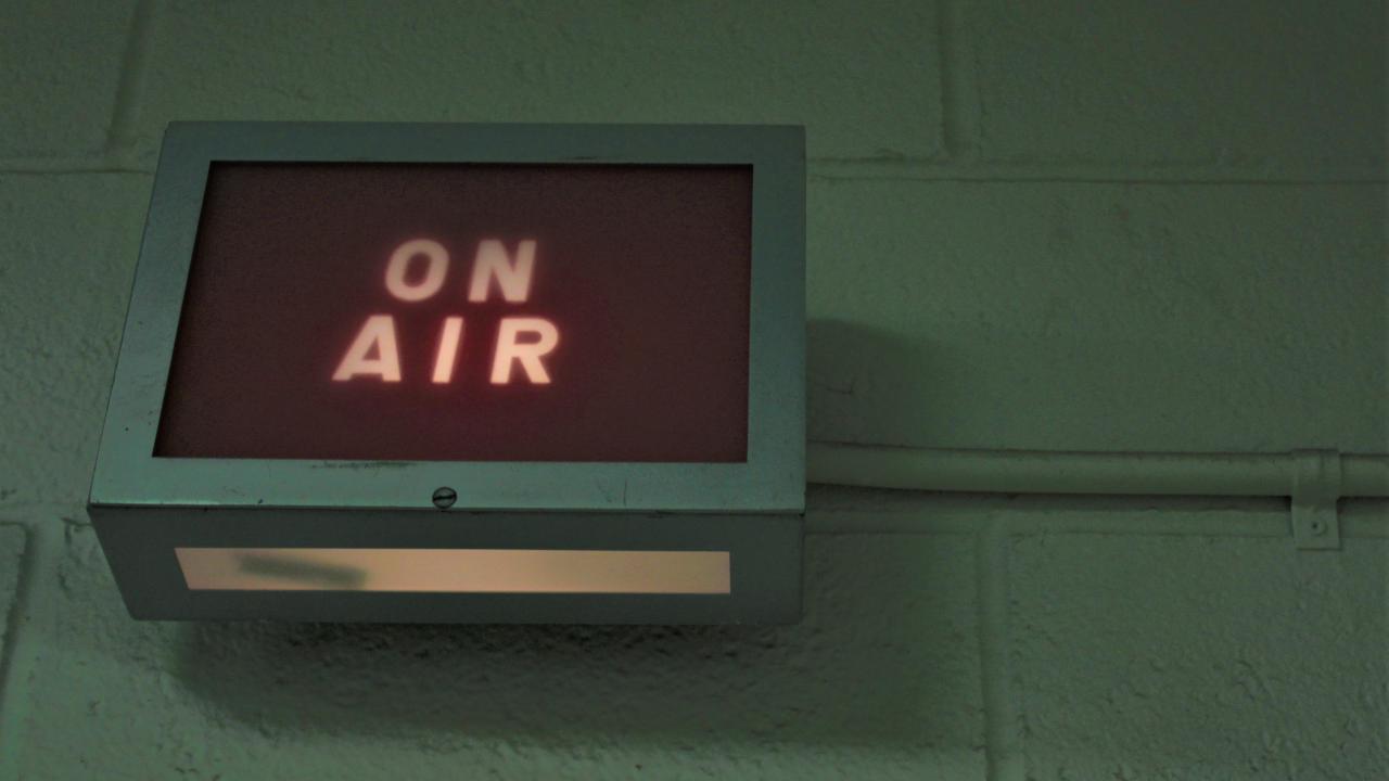 "Radio station ""on air"" sign"