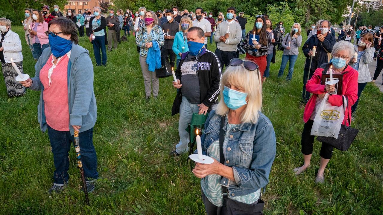 people at a vigil