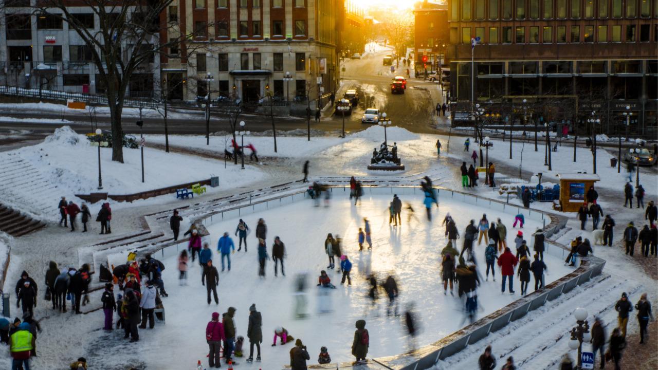 outdoor skating