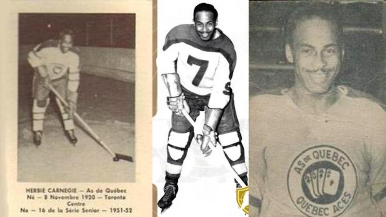three hockey cards side by side