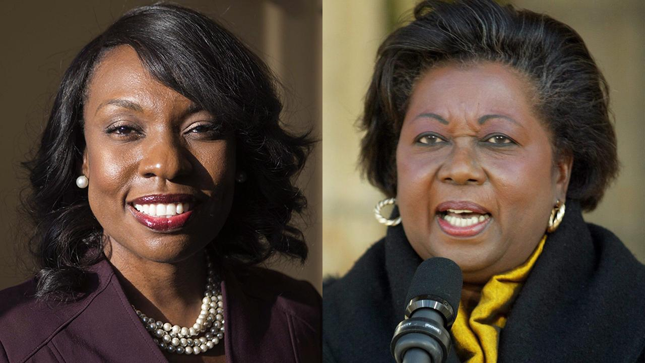 Mitzie Hunter and Jean Augustine