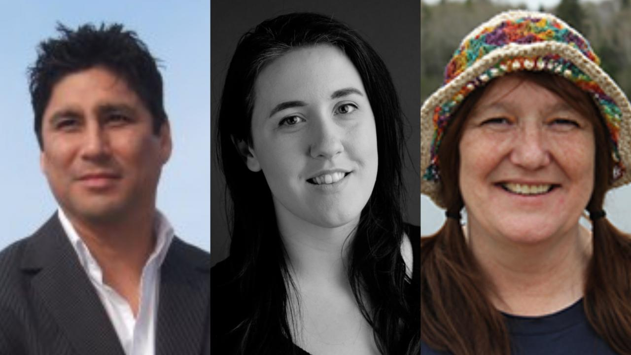 three Indigenous leaders