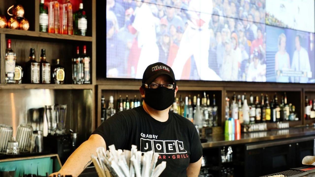 a bartender at Joey Restaurant in Kitchener