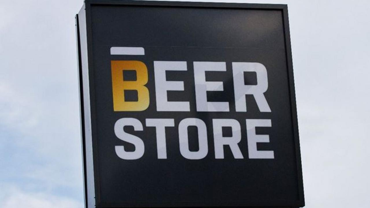 An Ontario Beer Store sign