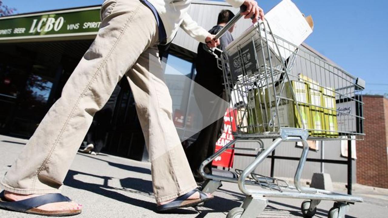 a person pushing a shopping cart