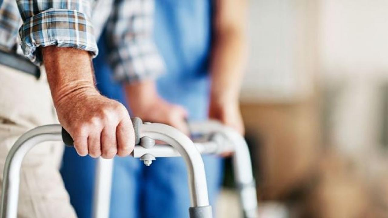 a person using a walker
