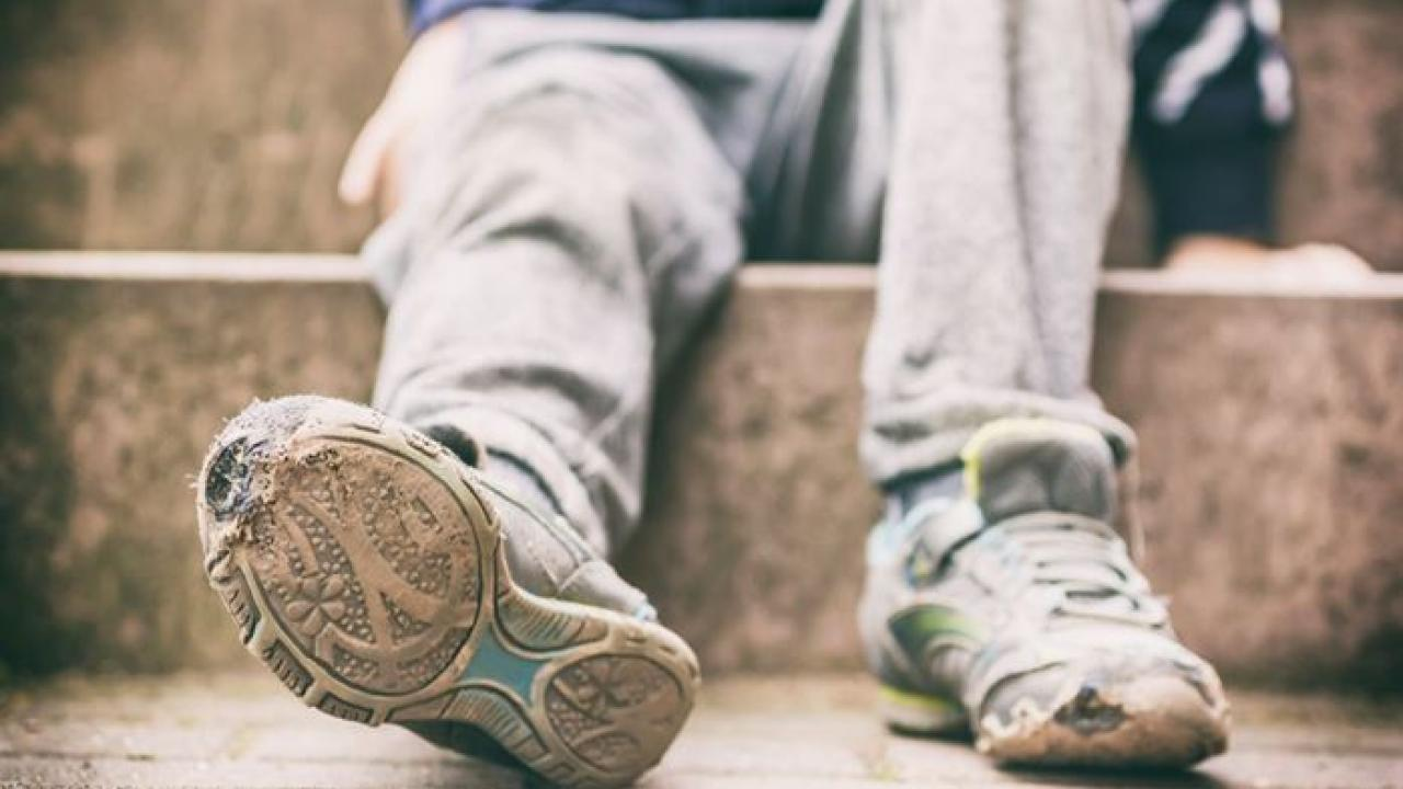 A child's feet