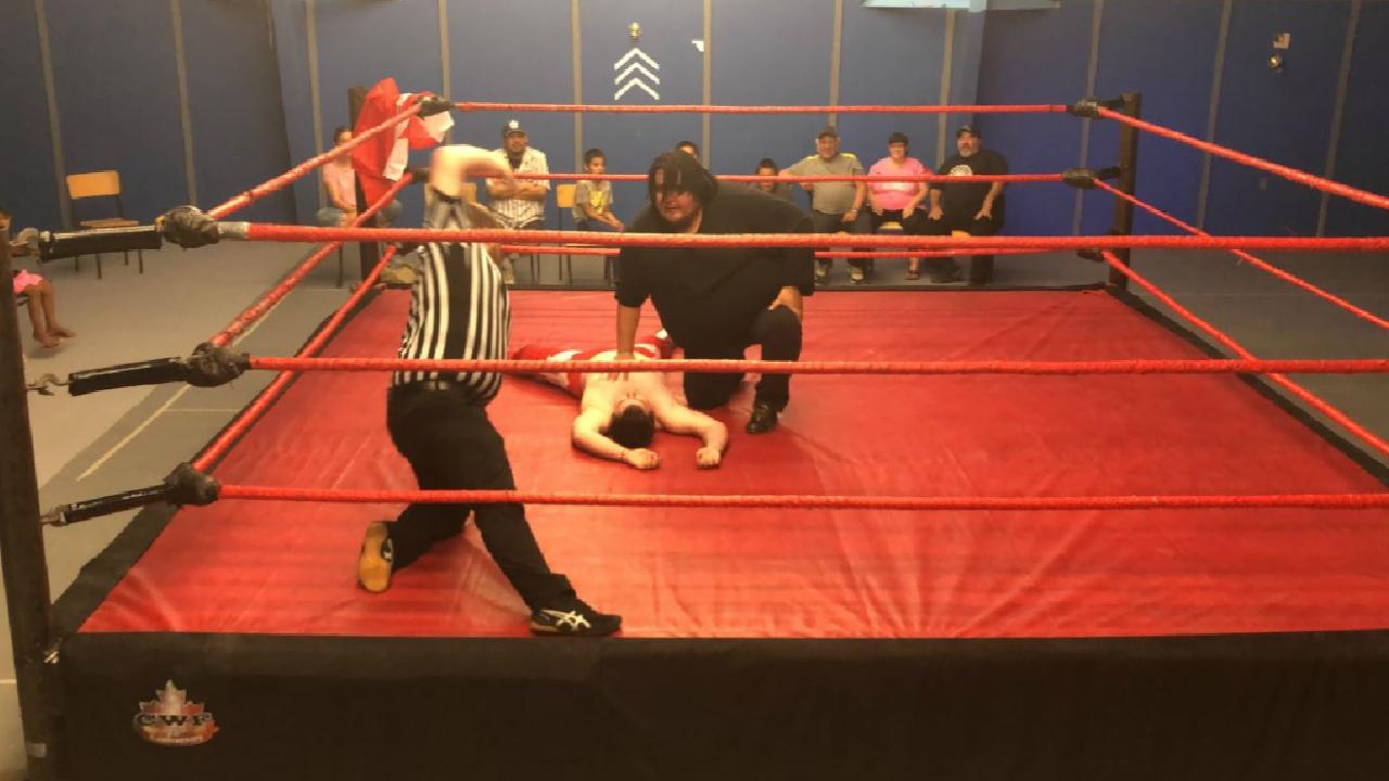 wrestlers in a ring