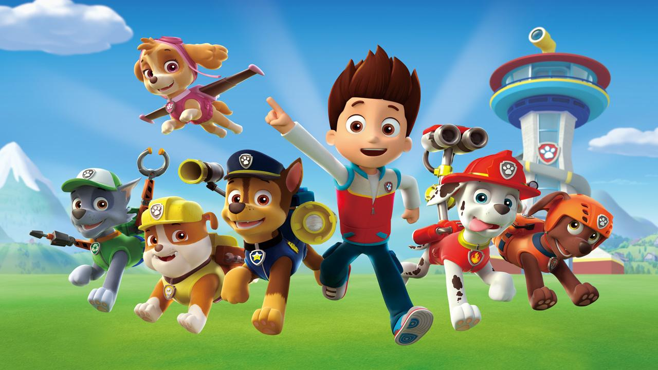 Paw Patrol animated characters.