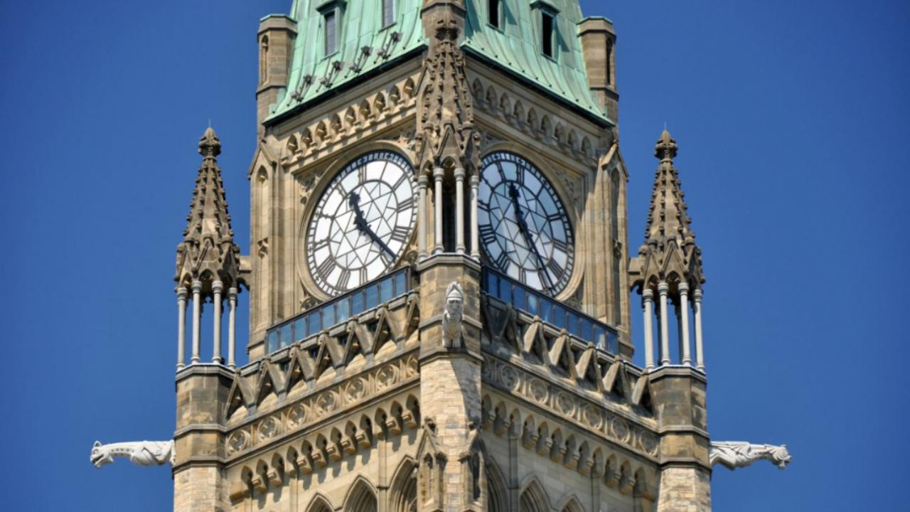 Peace Tower building in Ottawa