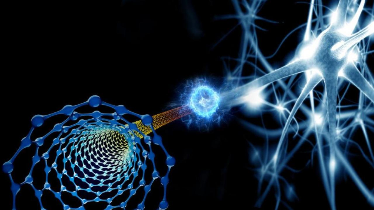 Artist's impression of a synapse.