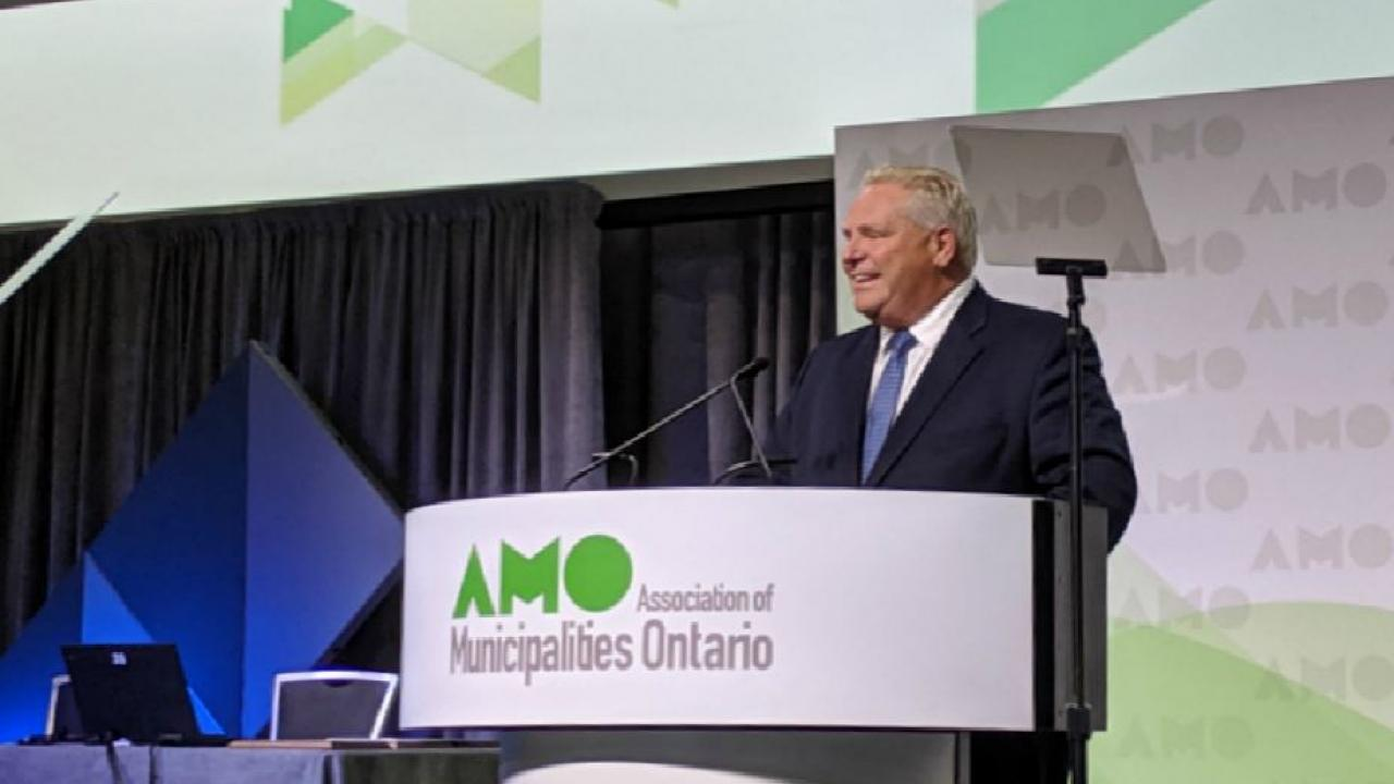 Doug Ford at the Association of Municipalities of Ontario conference