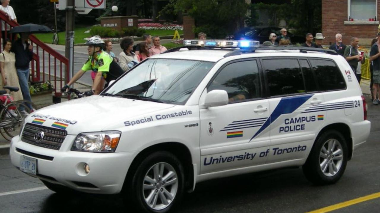A University of Toronto campus police car