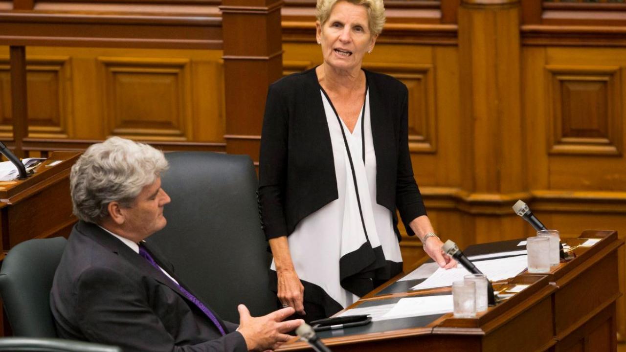 Kathleen Wynne in the Ontario legislature