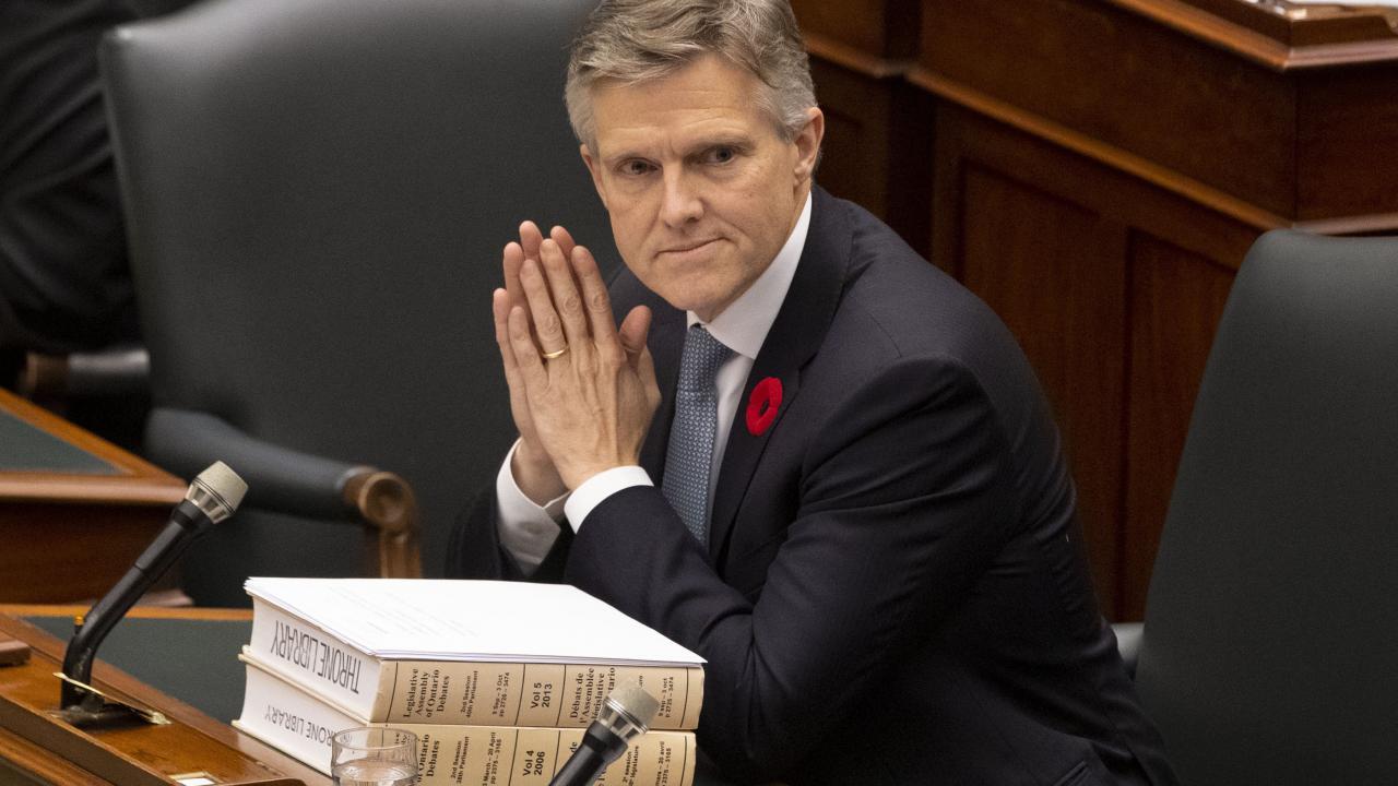Ontario finance minister Rod Phillips