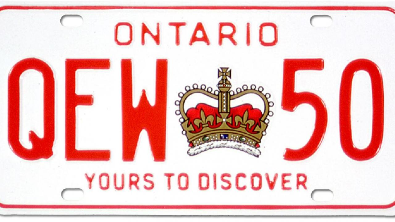 Ontario licence plate