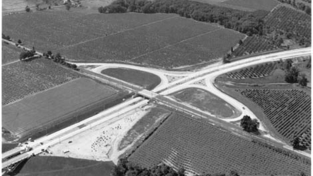 historic photo of the QEW highway