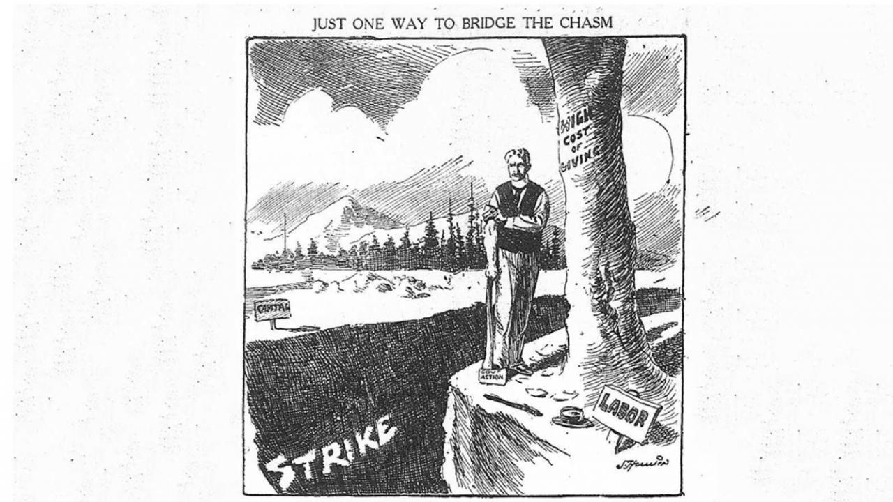 a newspaper illustration