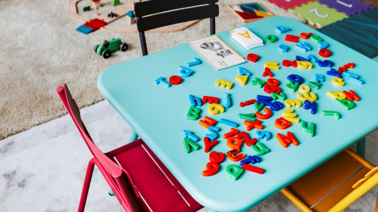 a desk in a day care centre