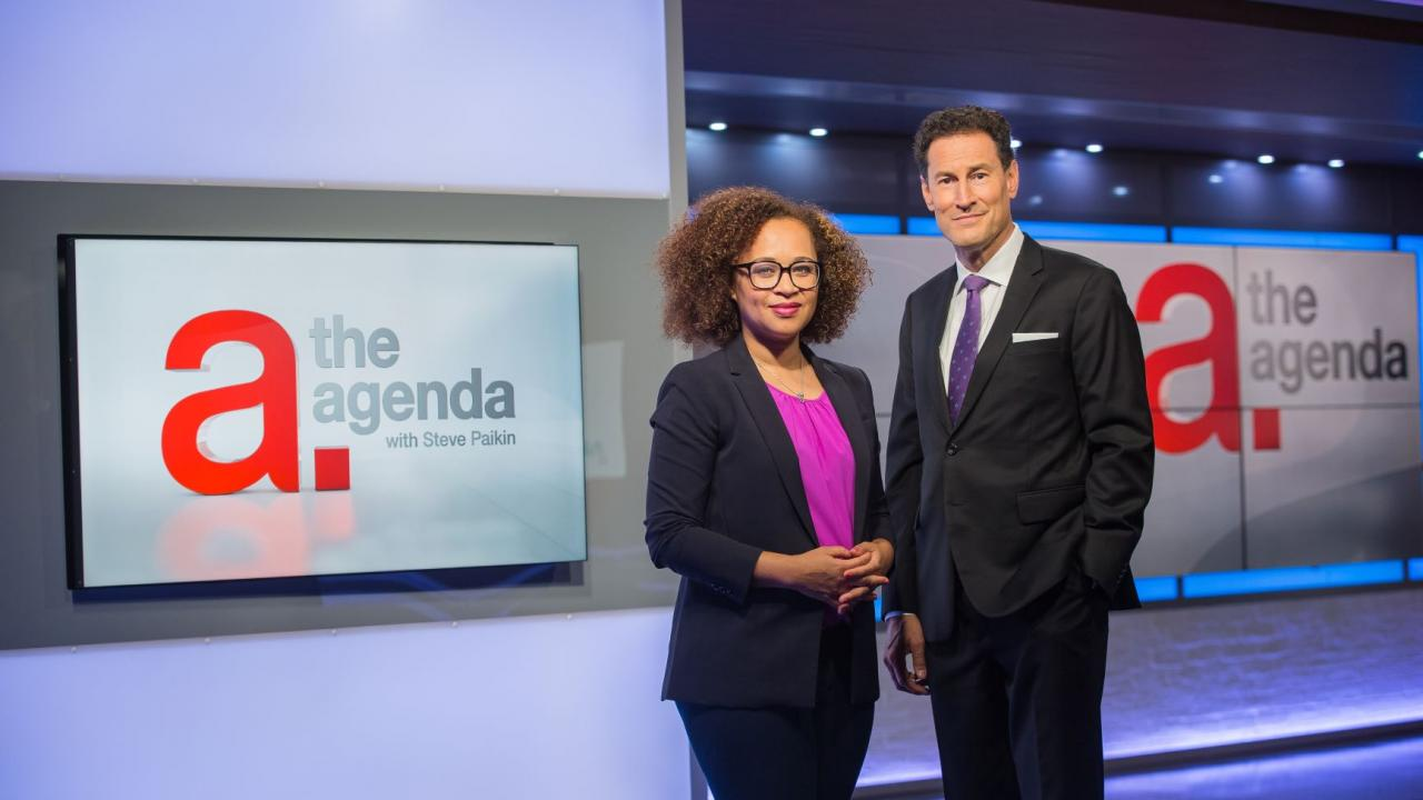 The Agenda's Steve Paikin and Nam Kiwanuka