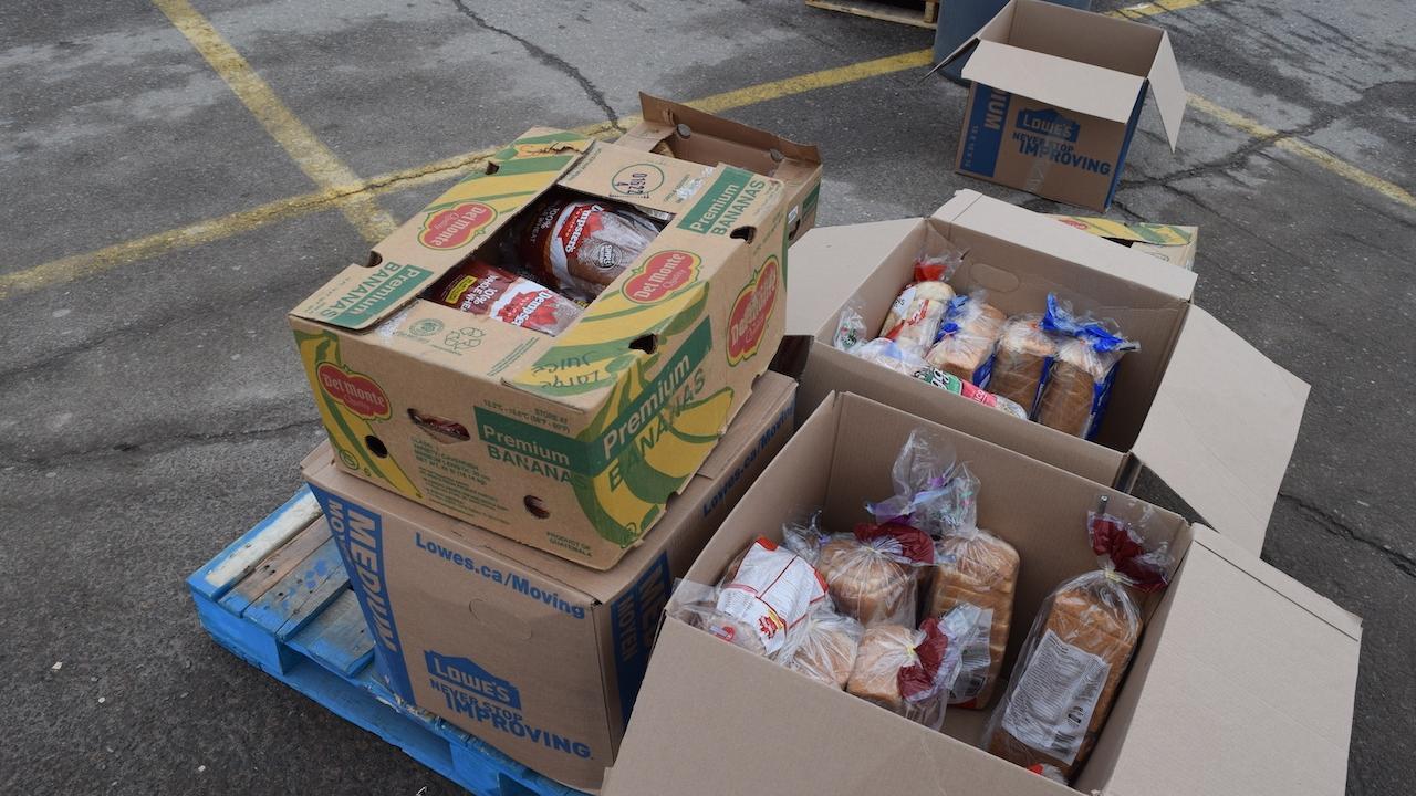 food bank boxes