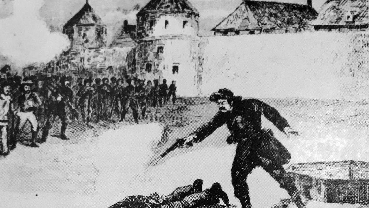 illustration of the execution of Thomas Scott