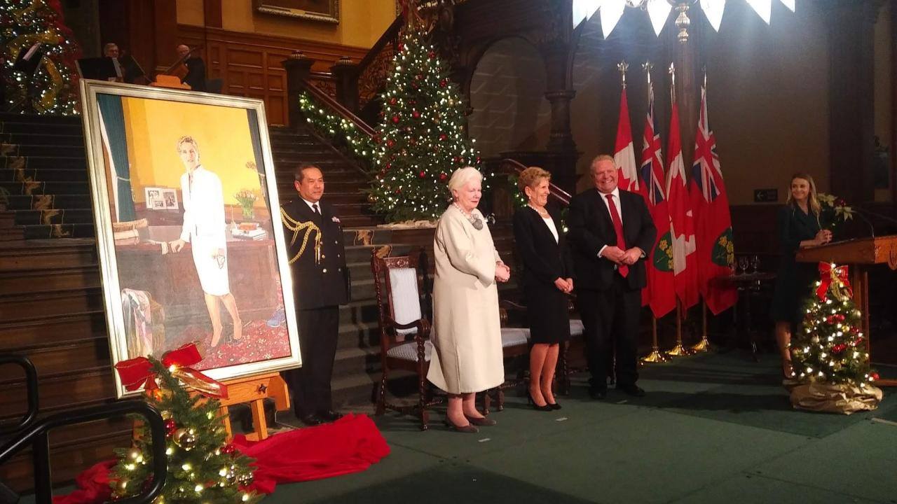 Unveiling of Kathleen Wynne's official portrait