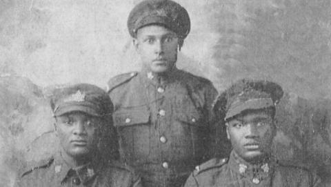 three soldiers from the First World War