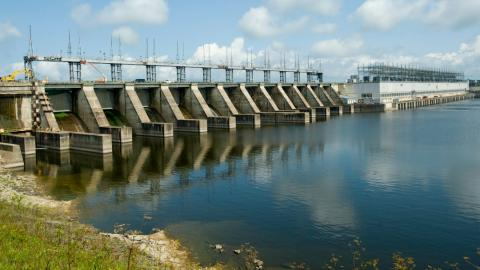 a hydro dam in Ontario