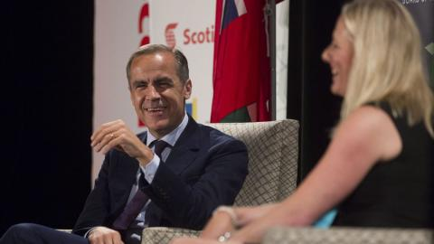Bank of England governor Mark Carney and Minister of Environment and Climate Change Catherine McKenna