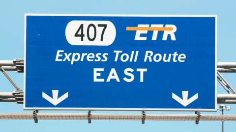 Express Toll Route sign