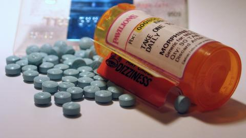 a bottle of morphine pills
