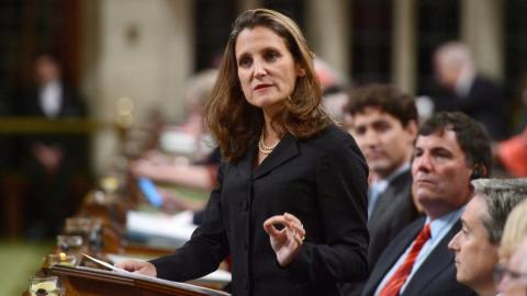 Chrystia Freeland in the House of Commons
